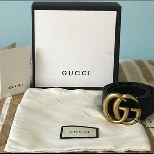 Gucci Marmot GG Black/Gold Authentic